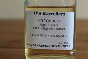 Barreliers Miltonduff 6 in der Flasche